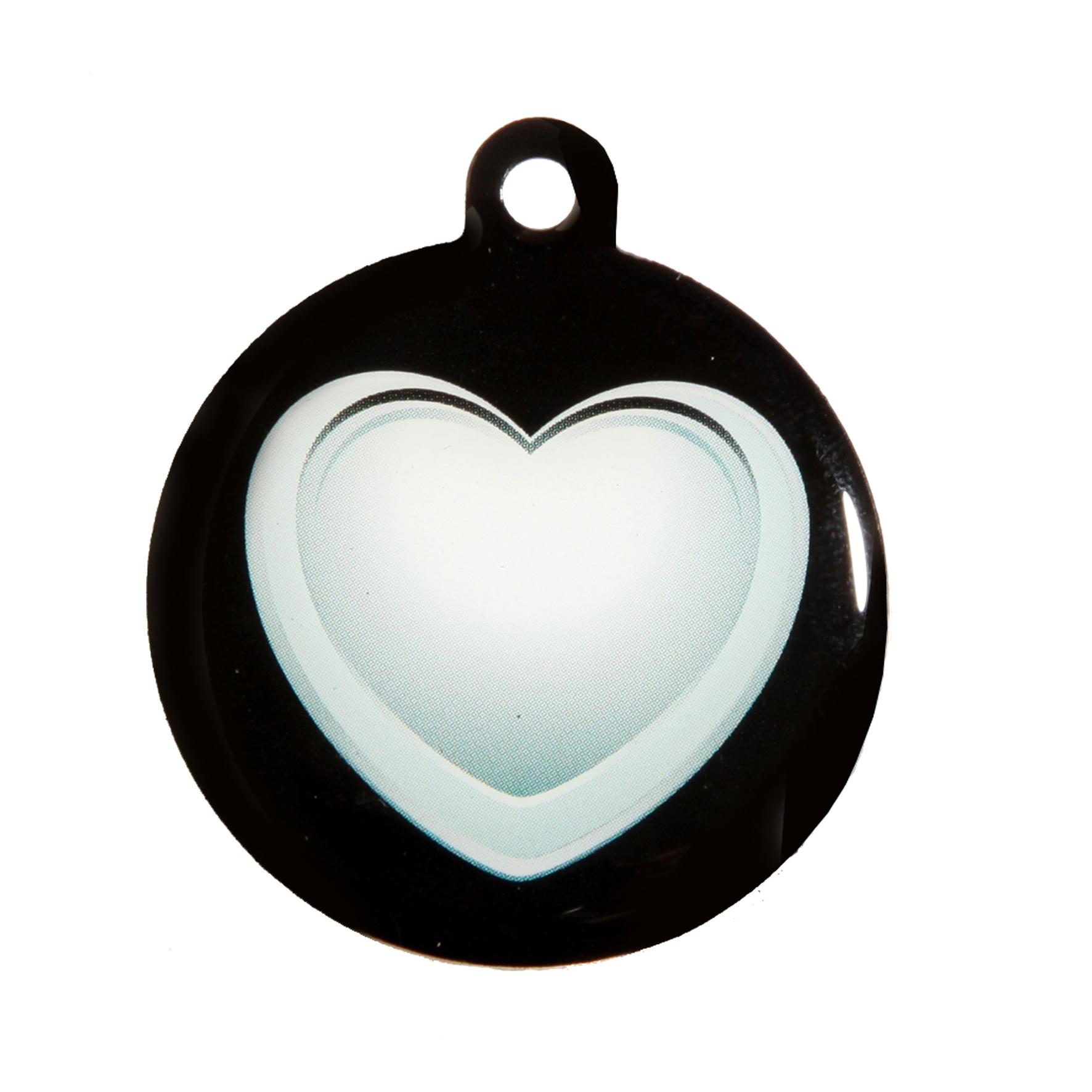 medaille chien qr code coeur