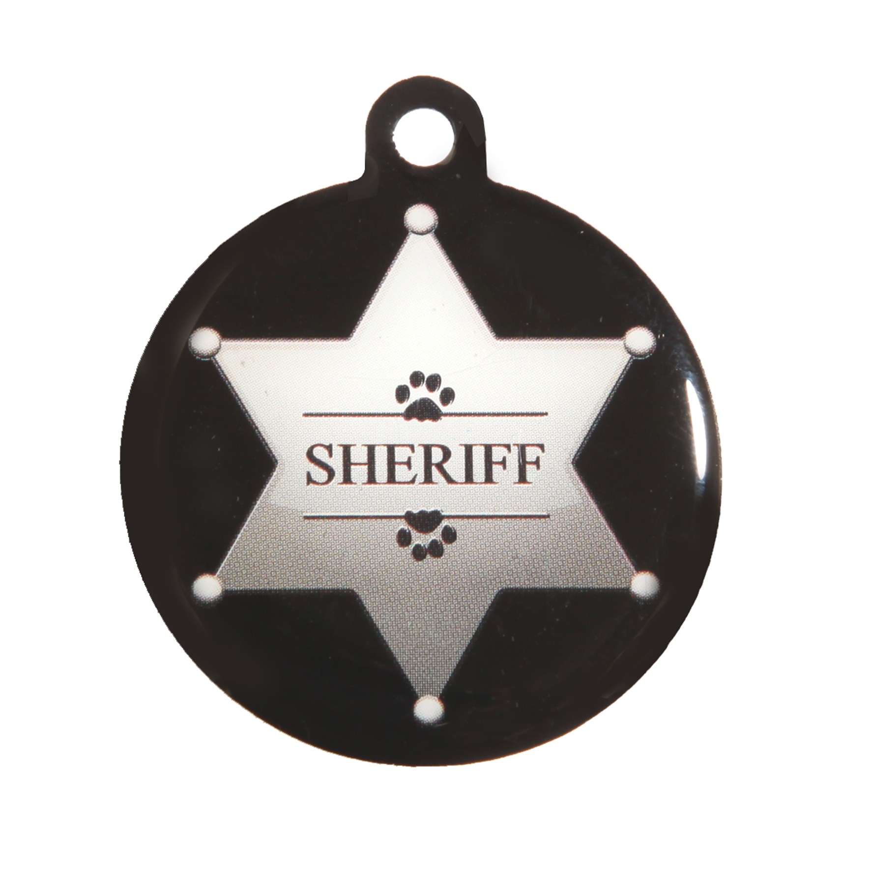 medaille chien qr code sheriff