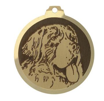 medaille chien saint bernard