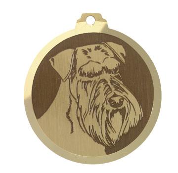 medaille chien schnauzer geant oreilles longues