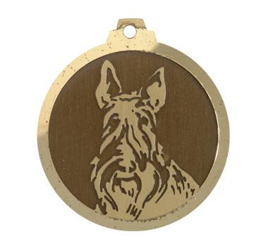 medaille chien scottich terrier