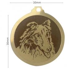 medaille chien shetland