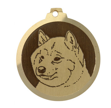 medaille chien shiba inu