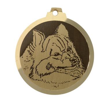 medaille chien spitz moyen