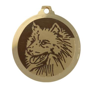 medaille chien spitz nain