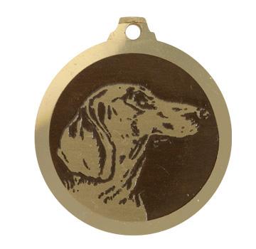 medaille chien teckel poils courts