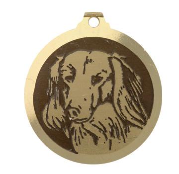 medaille chien teckel poils longs