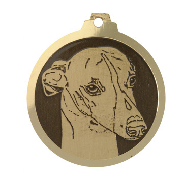 medaille chien whippet