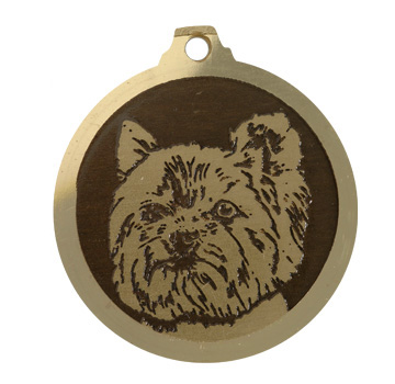 medaille chien yorkshire new look