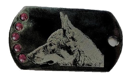 Médaille gravée photo chien