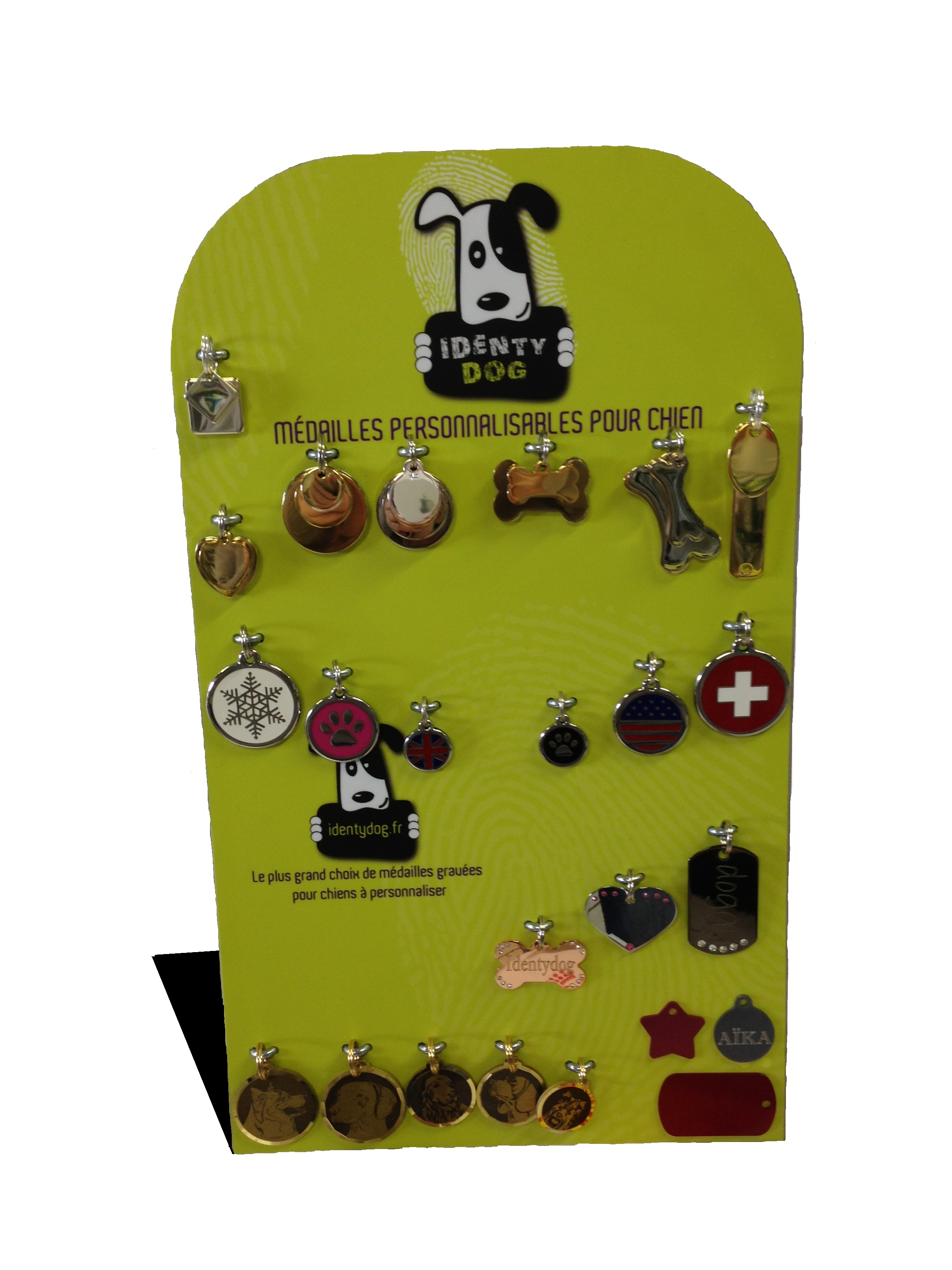 Présentoir métal médaille pour chien
