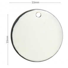 Medaille chien Ronde 33mm Argent