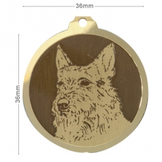 Medaille chien gravee Berger Picard