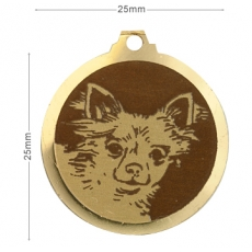 Medaille chien gravee Chihuahua
