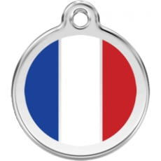 Medaille Chien RED DINGO Drapeau France 30mm