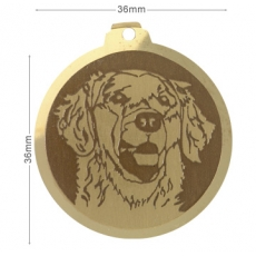 Medaille chien gravee Golden Retriever