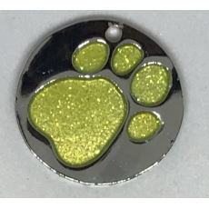 Medaille Chien Glitter Ronde Or