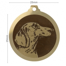 Medaille chien gravee Teckel Poils Courts