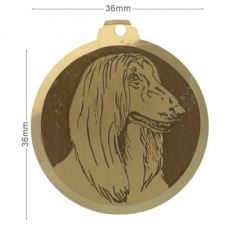 Medaille chien gravee Lévrier Afghan