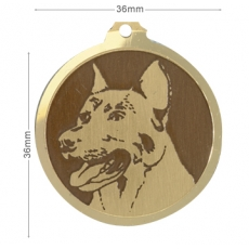 Medaille chien gravee Beauceron