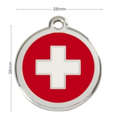 Médaille Chien RED DINGO Rouge Swiss 38mm