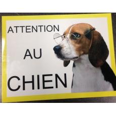 Plaque personnalisée ATTENTION AU CHIEN