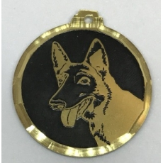 Medaille chien gravee Malinois