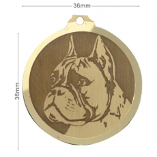 Medaille chien gravee Boxer OC