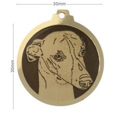 Medaille chien gravée Whippet