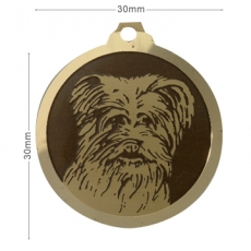 Medaille chien gravee Berger des Pyrenees