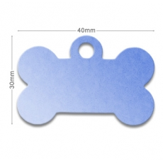 Medaille chien alu Os 2