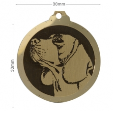 Medaille chien gravee Beagle