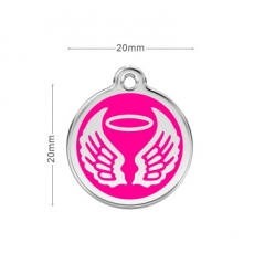 Medaille Chien RED DINGO Ange Rose 20mm
