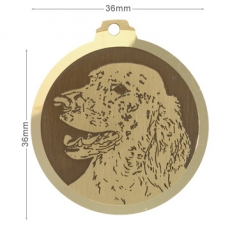 Medaille chien gravee Setter Anglais