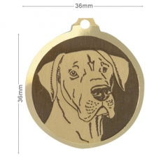 Medaille chien gravee Dogue Allemand ONC