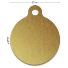 Medaille chien alu Rond 2