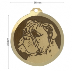 Medaille chien gravee Boxer ONC