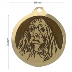 Medaille chien gravee Cocker Americain