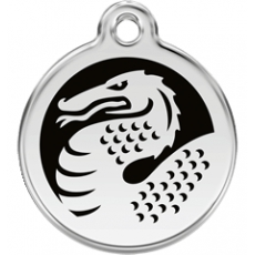 Medaille Chien RED DINGO Dragon Noir 30mm