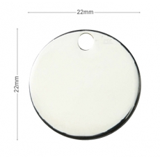 Medaille chien Ronde 22mm Argent